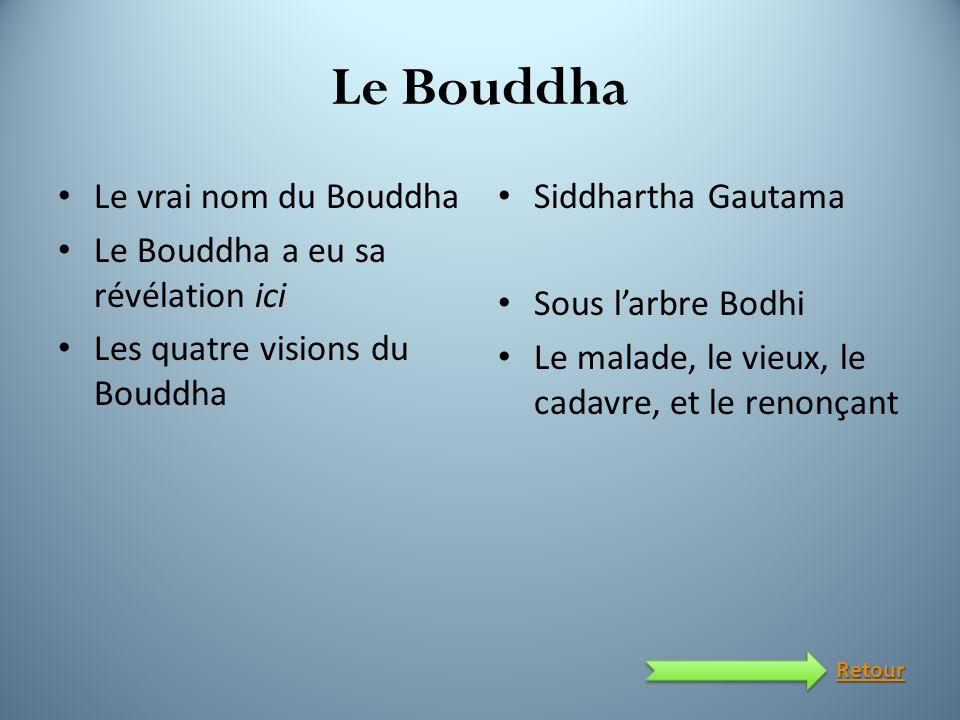 Le Bouddha Le vrai nom du Bouddha Le Bouddha a eu sa révélation ici