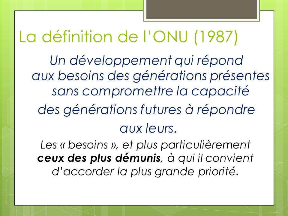 La définition de l'ONU (1987)