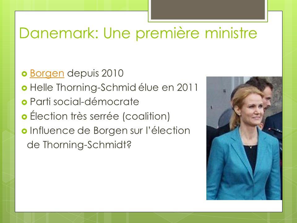 Danemark: Une première ministre