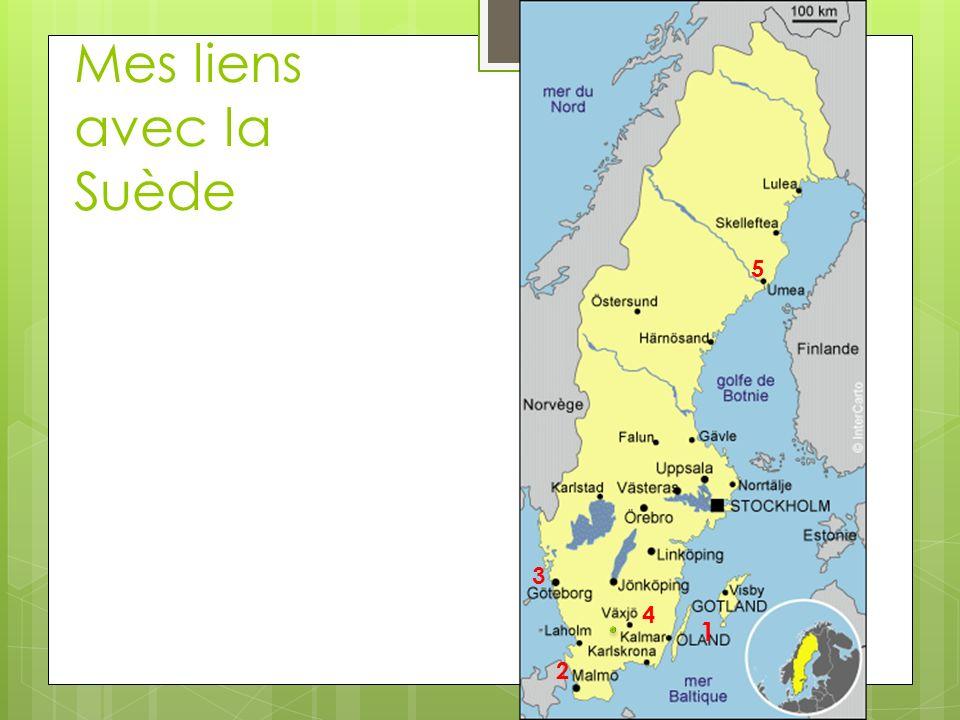 Mes liens avec la Suède 1 5 3 4 2 Mon nom