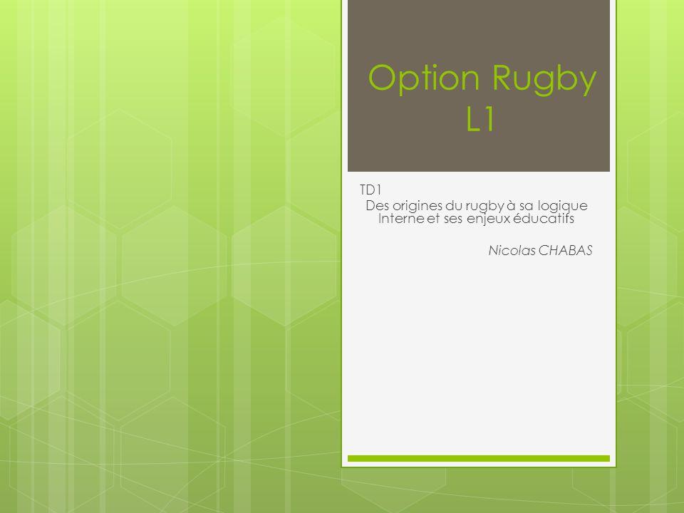 Des origines du rugby à sa logique Interne et ses enjeux éducatifs