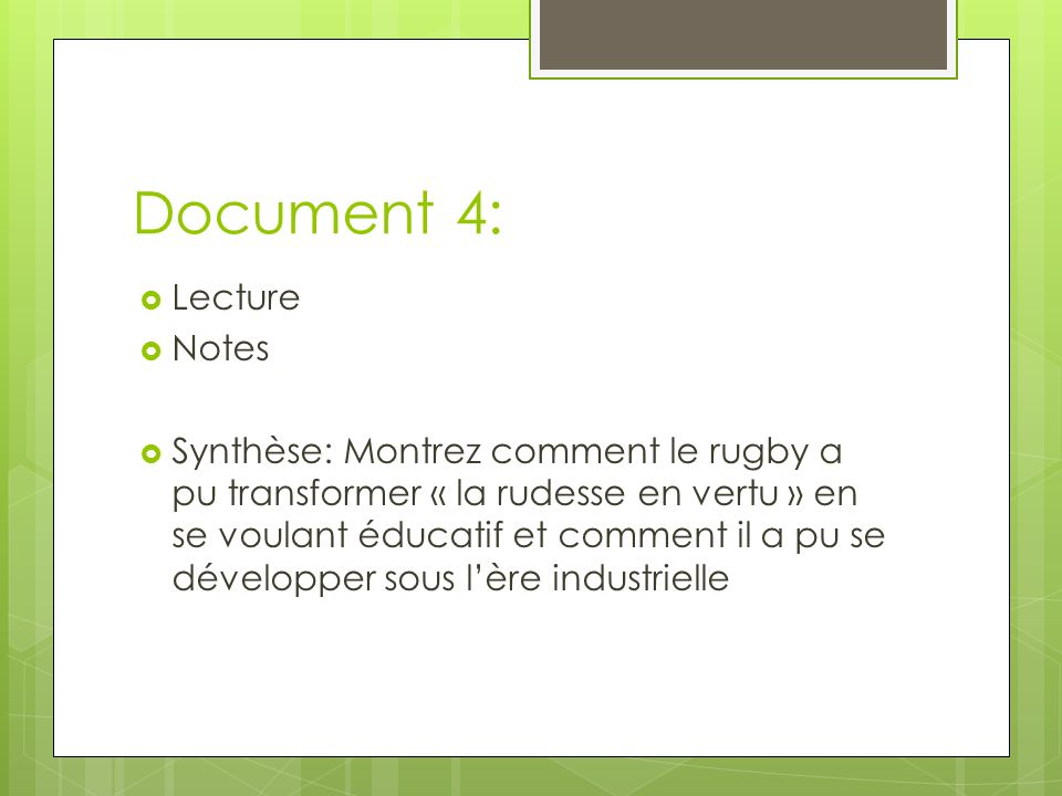 Document 4: Lecture Notes
