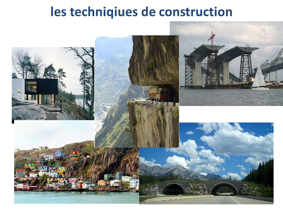 les techniqiues de construction