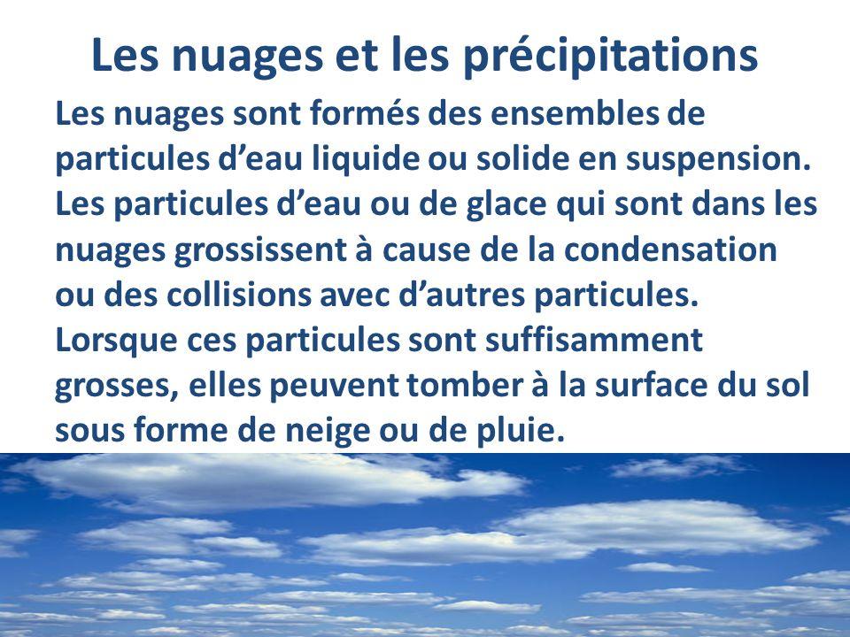 Les nuages et les précipitations