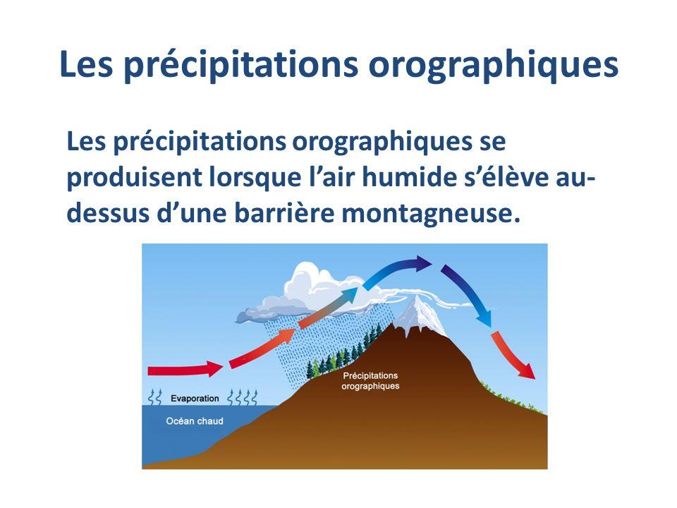 Les précipitations orographiques