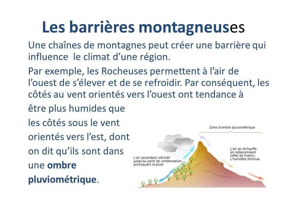 Les barrières montagneuses