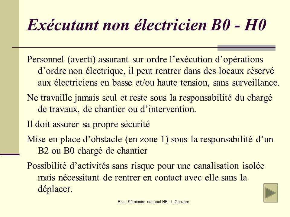 Exécutant non électricien B0 - H0