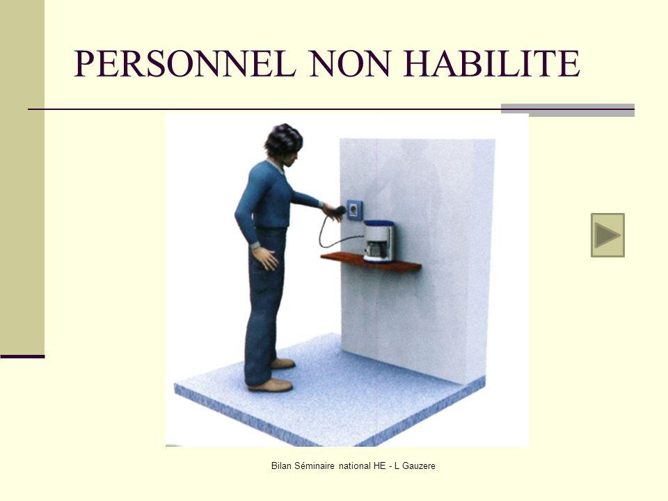 PERSONNEL NON HABILITE