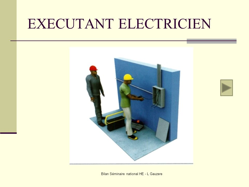 EXECUTANT ELECTRICIEN