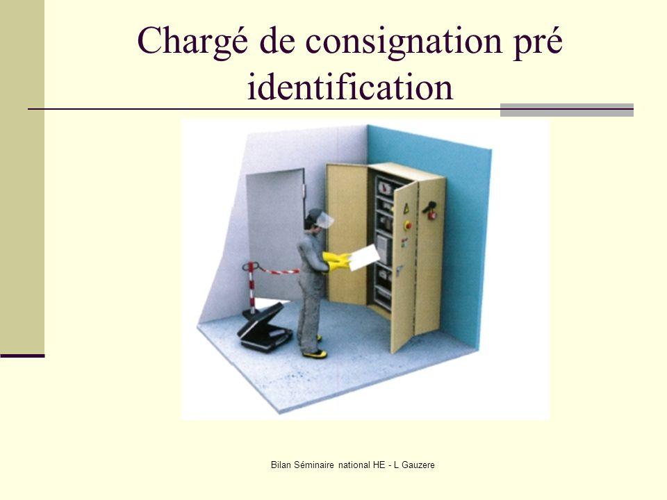 Chargé de consignation pré identification