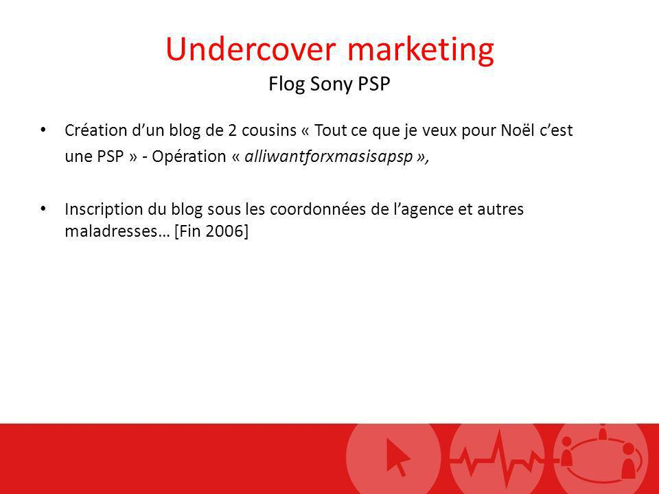 Undercover marketing Flog Sony PSP