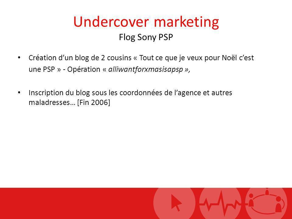 Undercover marketing Flog Sony PSP