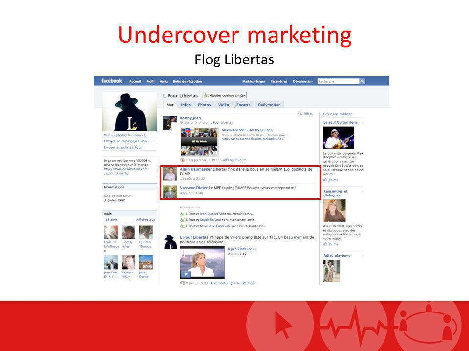 Undercover marketing Flog Libertas
