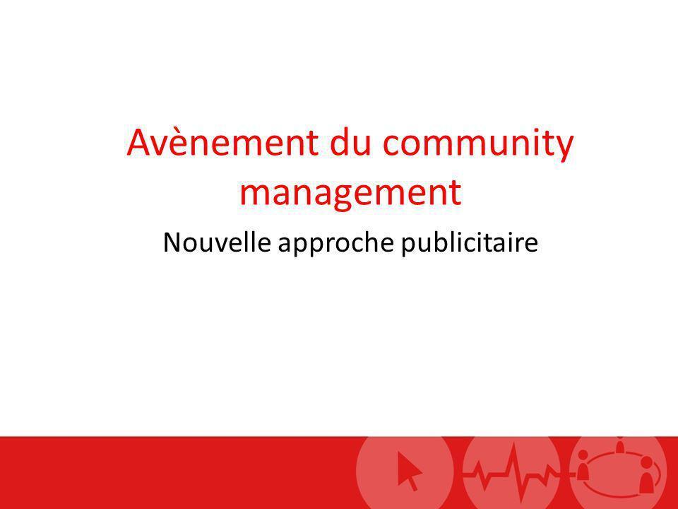 Avènement du community management