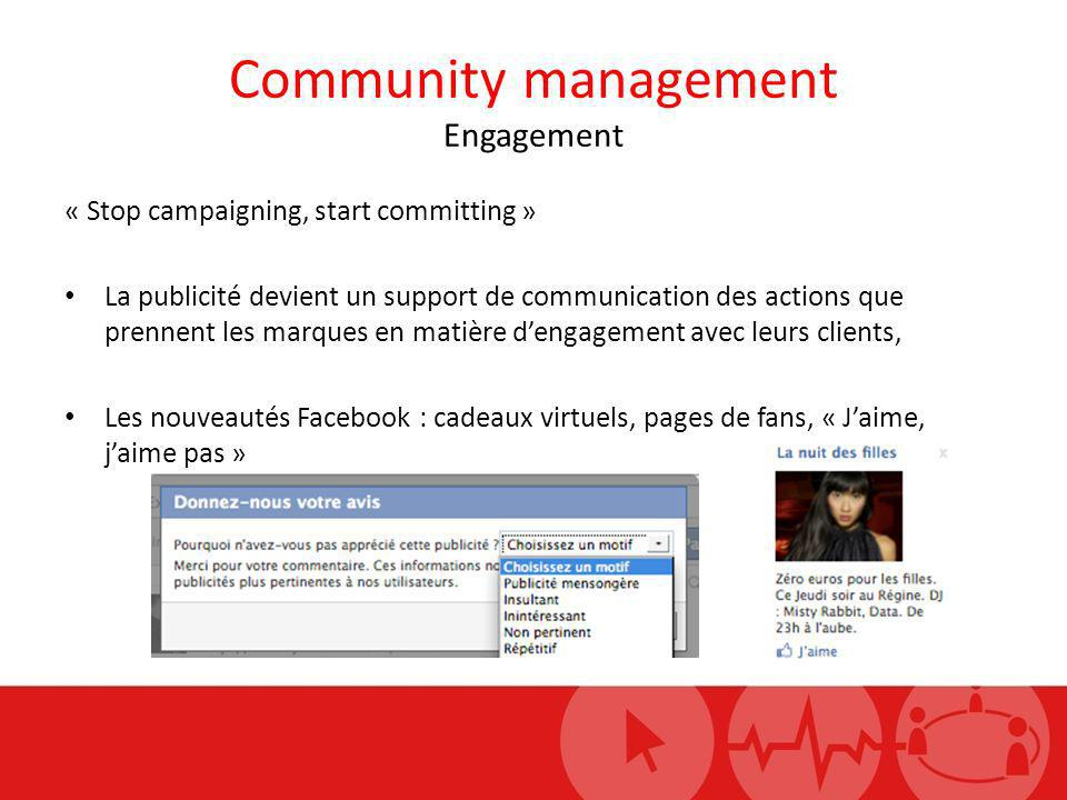 Community management Engagement