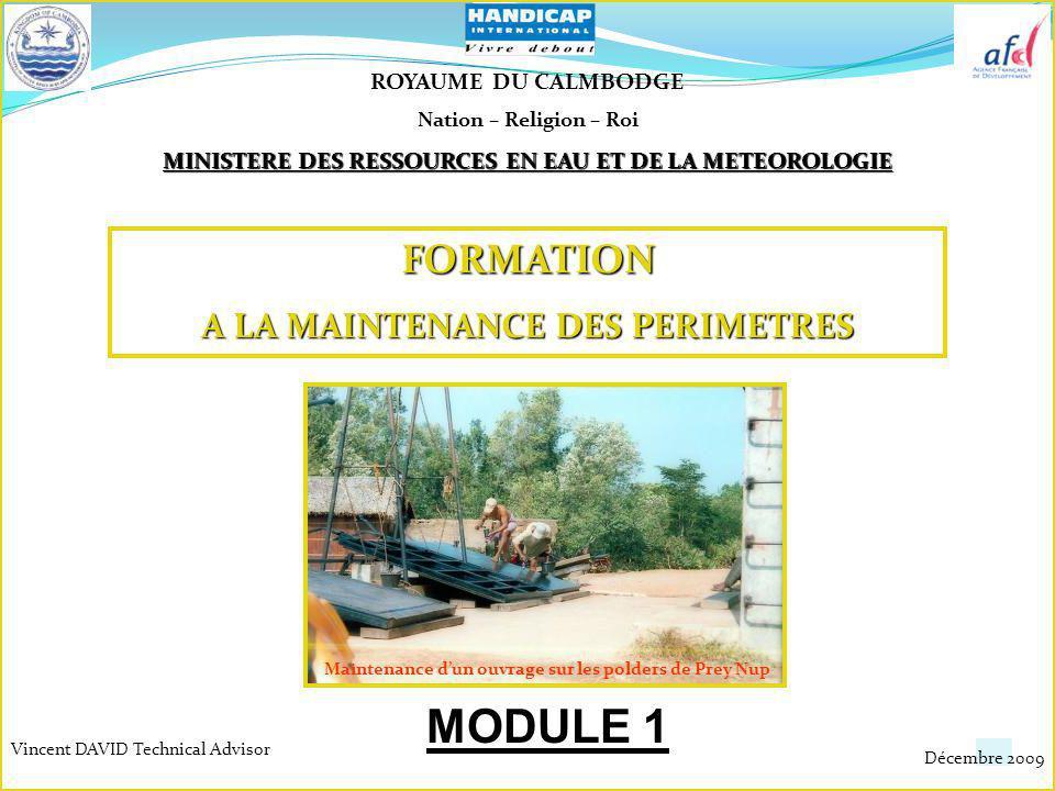 MODULE 1 FORMATION A LA MAINTENANCE DES PERIMETRES