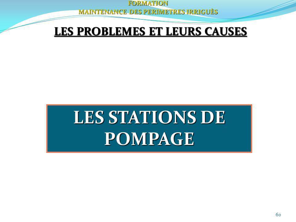 LES STATIONS DE POMPAGE