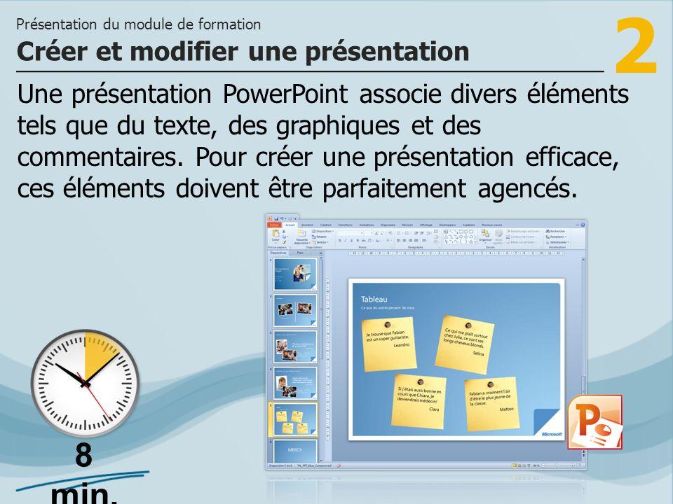 Créer et modifier une présentation