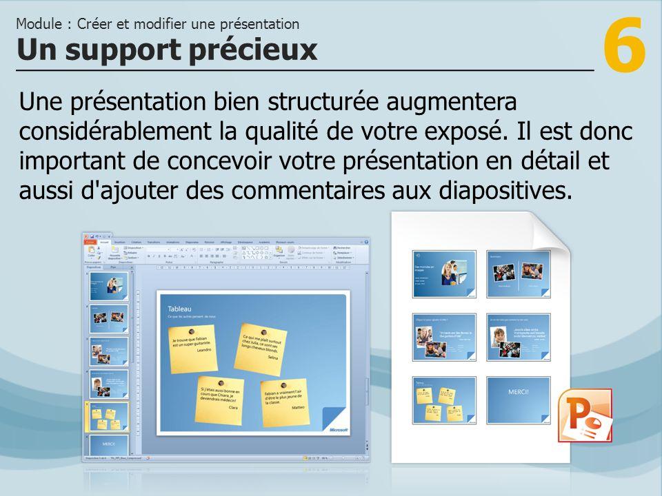 Module : Créer et modifier une présentation