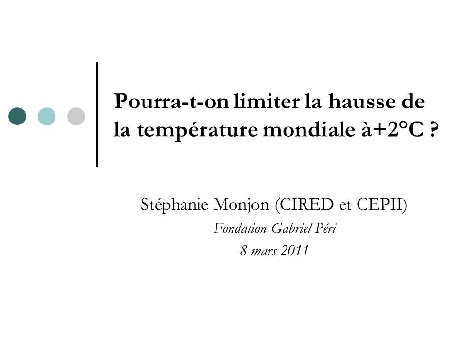 Pourra-t-on limiter la hausse de la température mondiale à+2°C