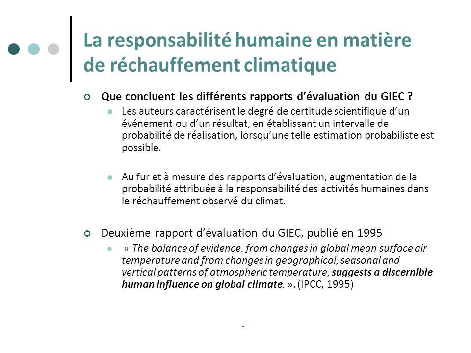 La responsabilité humaine en matière de réchauffement climatique