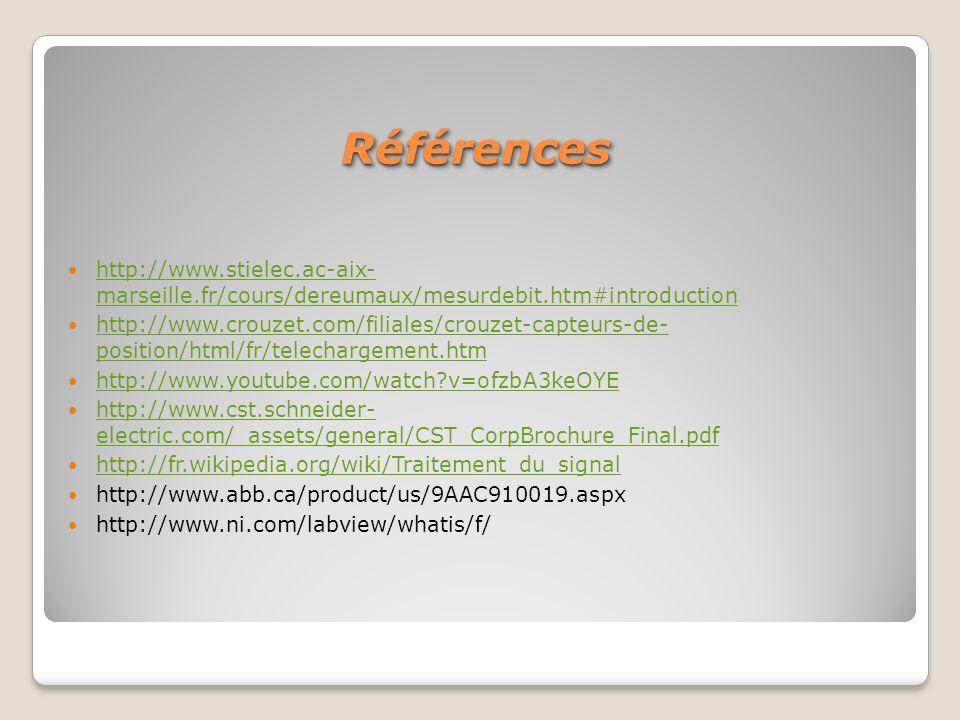 Références http://www.stielec.ac-aix- marseille.fr/cours/dereumaux/mesurdebit.htm#introduction.