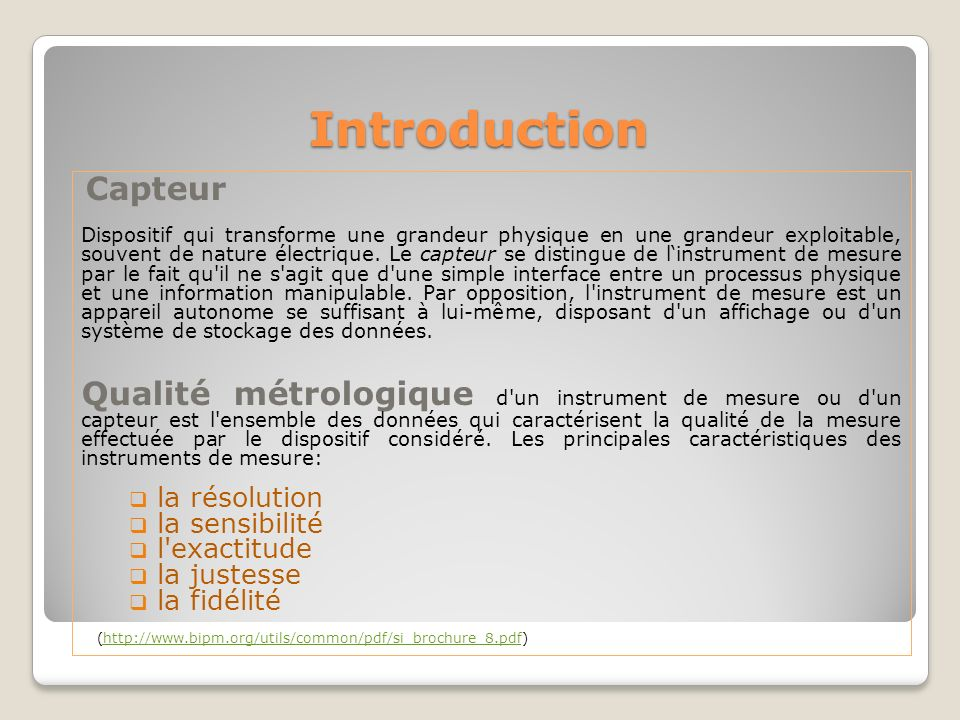 Introduction Capteur.