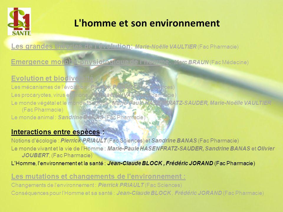 L homme et son environnement