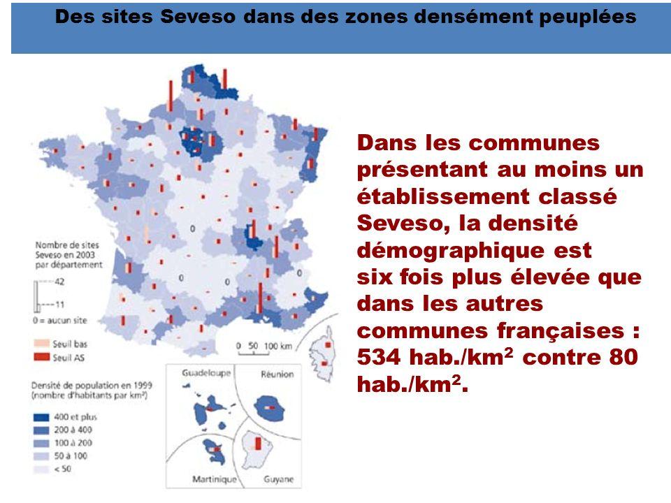 Des sites Seveso dans des zones densément peuplées