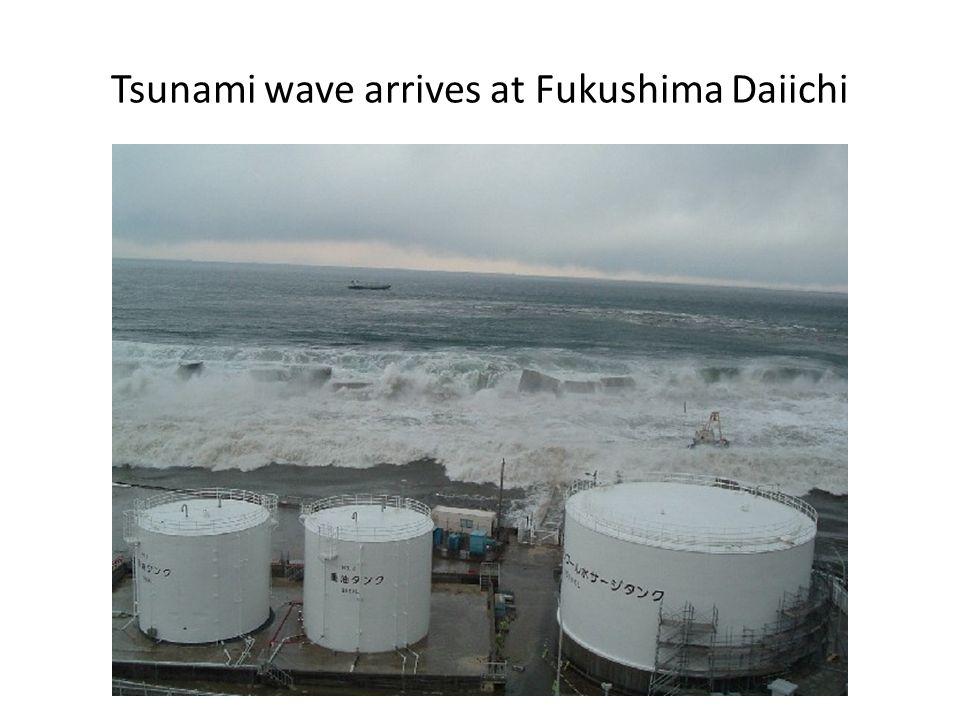 Tsunami wave arrives at Fukushima Daiichi