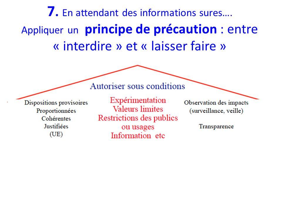 7. En attendant des informations sures…