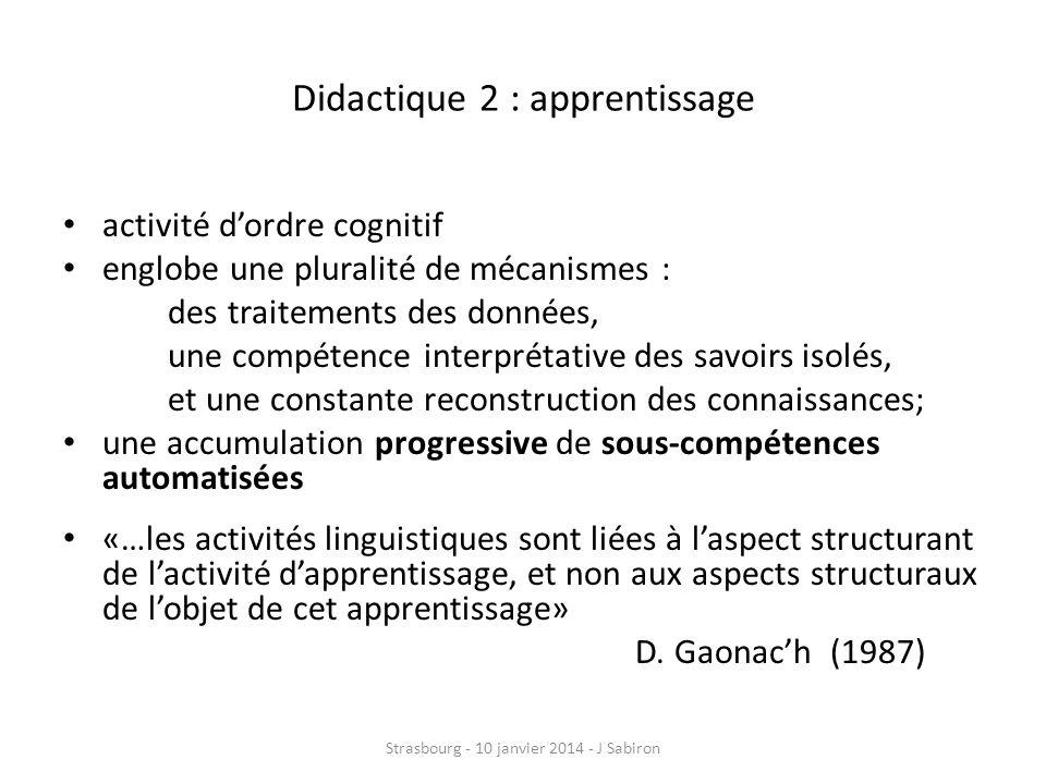 Didactique 2 : apprentissage