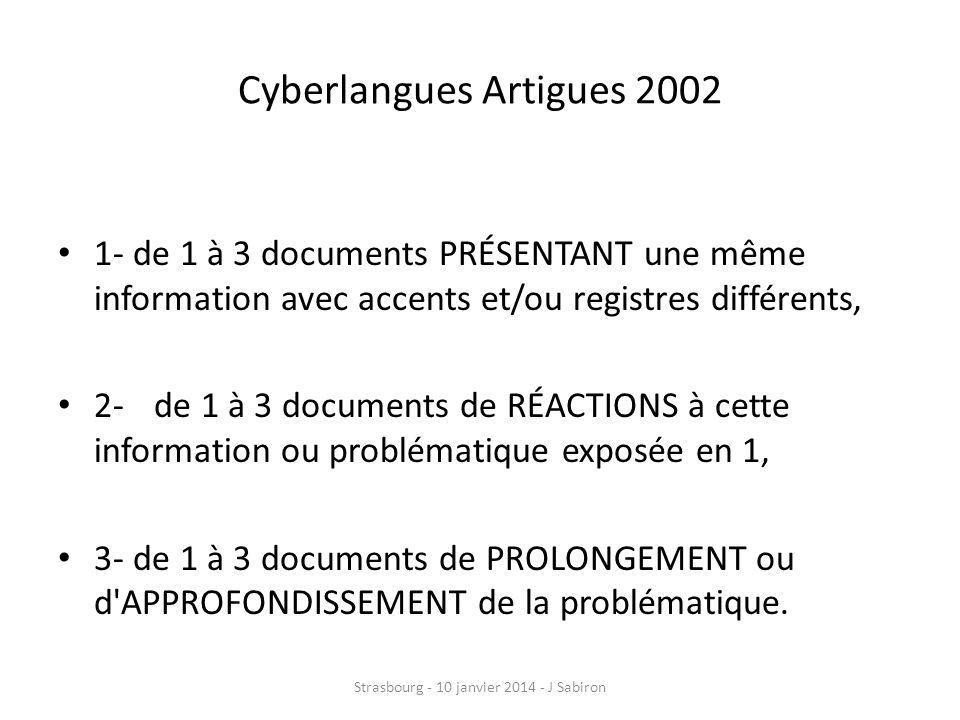 Cyberlangues Artigues 2002