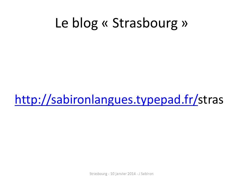 Strasbourg - 10 janvier 2014 - J Sabiron