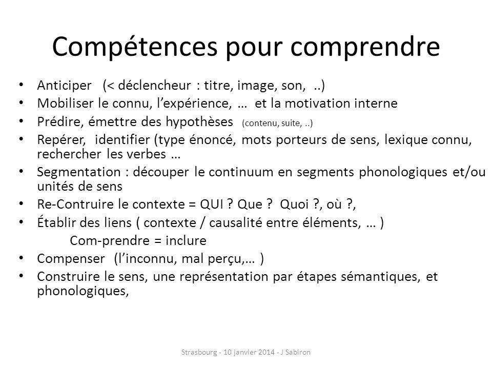 Compétences pour comprendre
