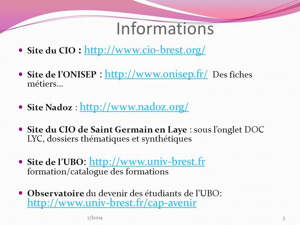 Informations Site du CIO : http://www.cio-brest.org/