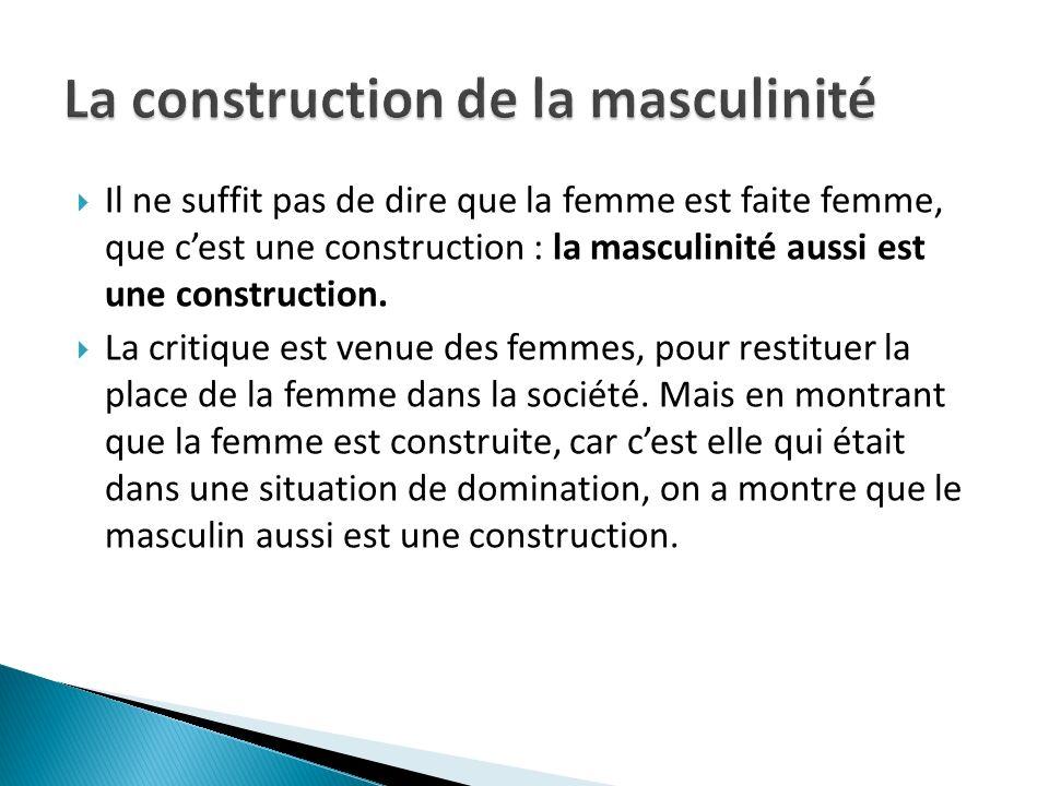 La construction de la masculinité