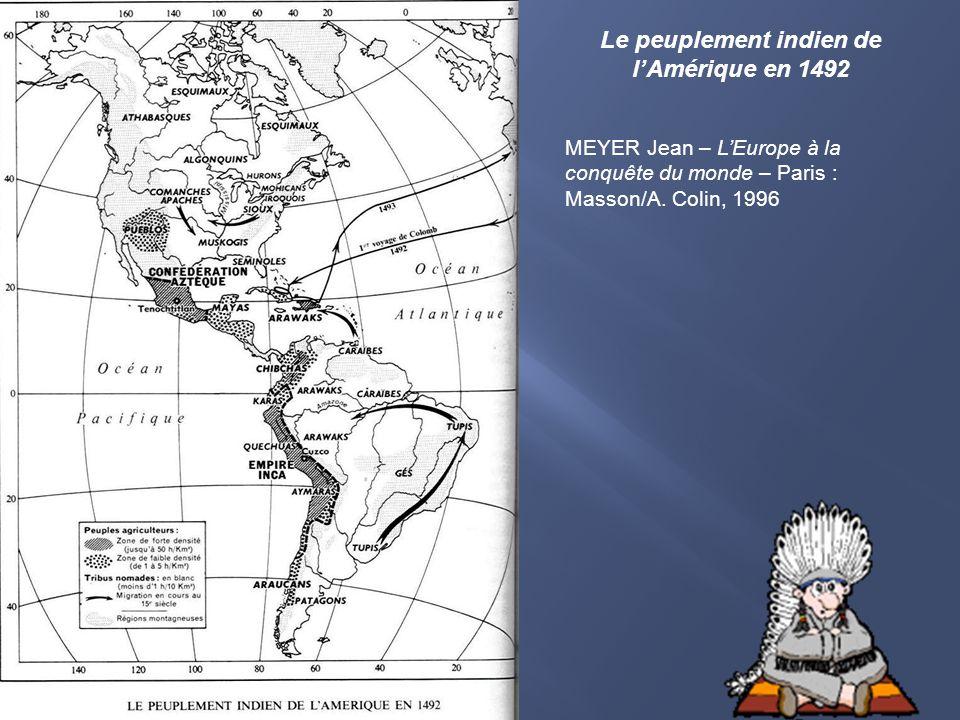 Le peuplement indien de l'Amérique en 1492