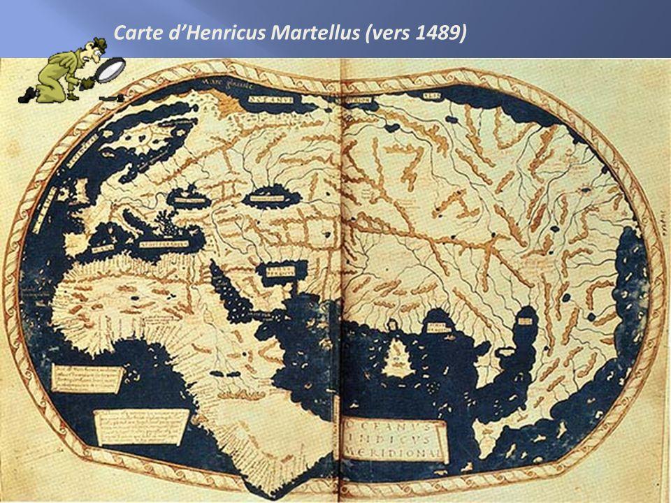 Carte d'Henricus Martellus (vers 1489)