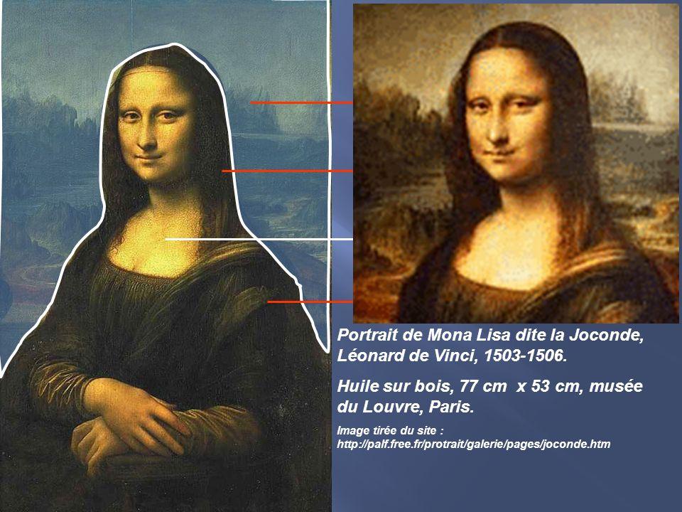 Portrait de Mona Lisa dite la Joconde, Léonard de Vinci, 1503-1506.