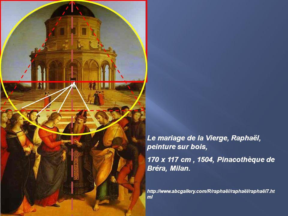 Le mariage de la Vierge, Raphaël, peinture sur bois,