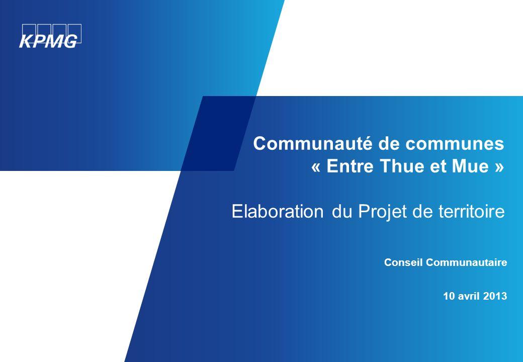 Communauté de communes « Entre Thue et Mue » Elaboration du Projet de territoire
