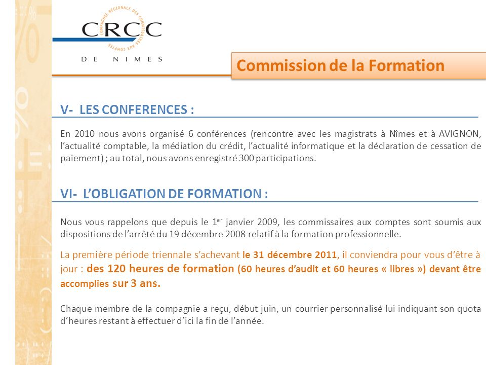 Commission de la Formation