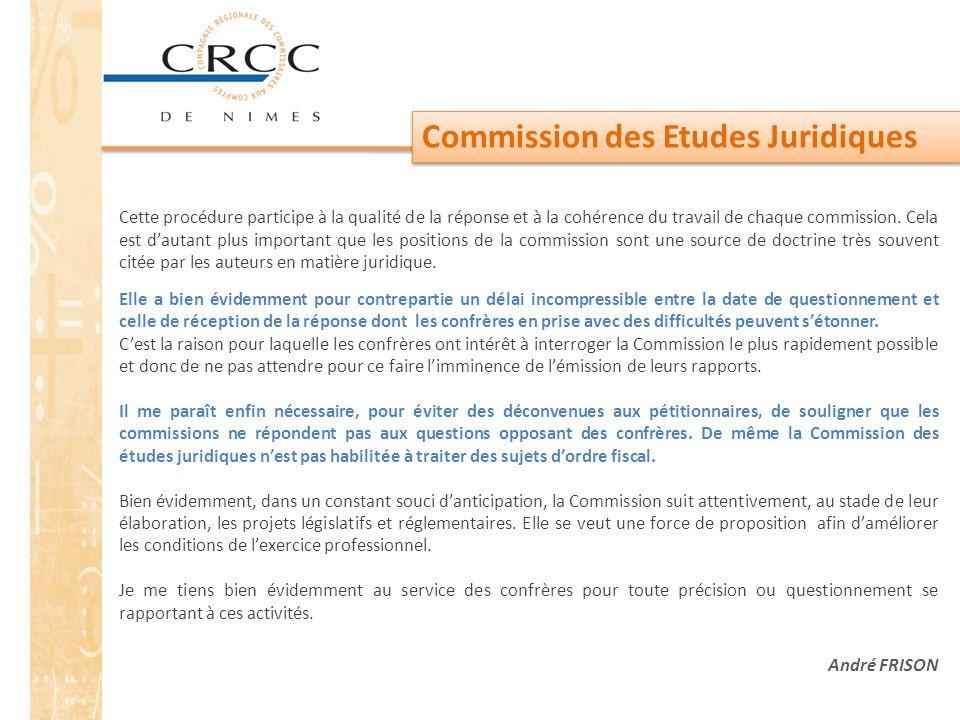 Commission des Etudes Juridiques