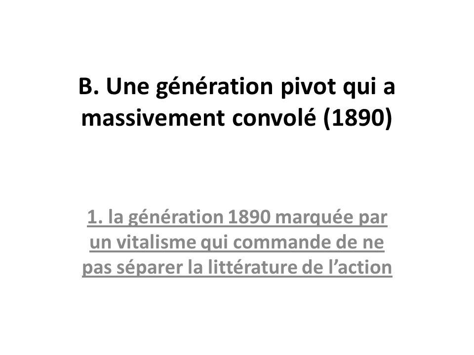 B. Une génération pivot qui a massivement convolé (1890)