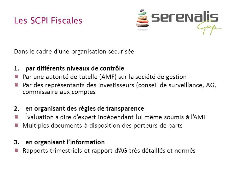 Les SCPI Fiscales Dans le cadre d'une organisation sécurisée
