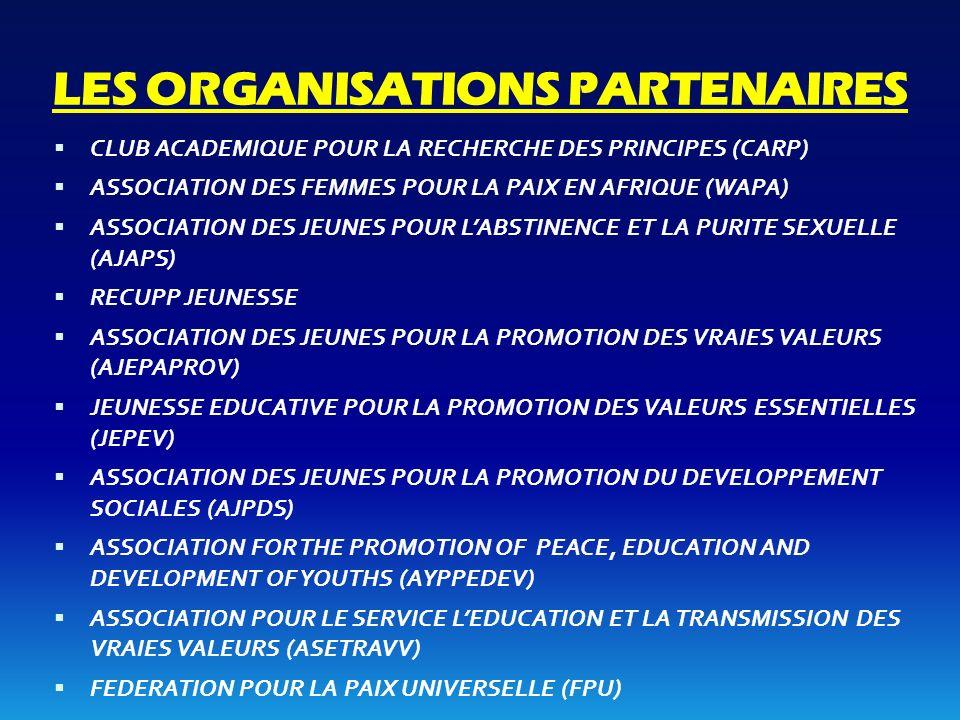 LES ORGANISATIONS PARTENAIRES