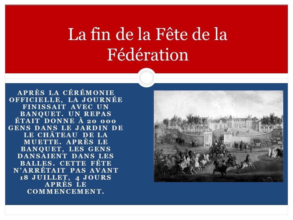 La fin de la Fête de la Fédération