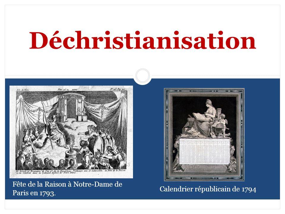 Déchristianisation Fête de la Raison à Notre-Dame de Paris en 1793.