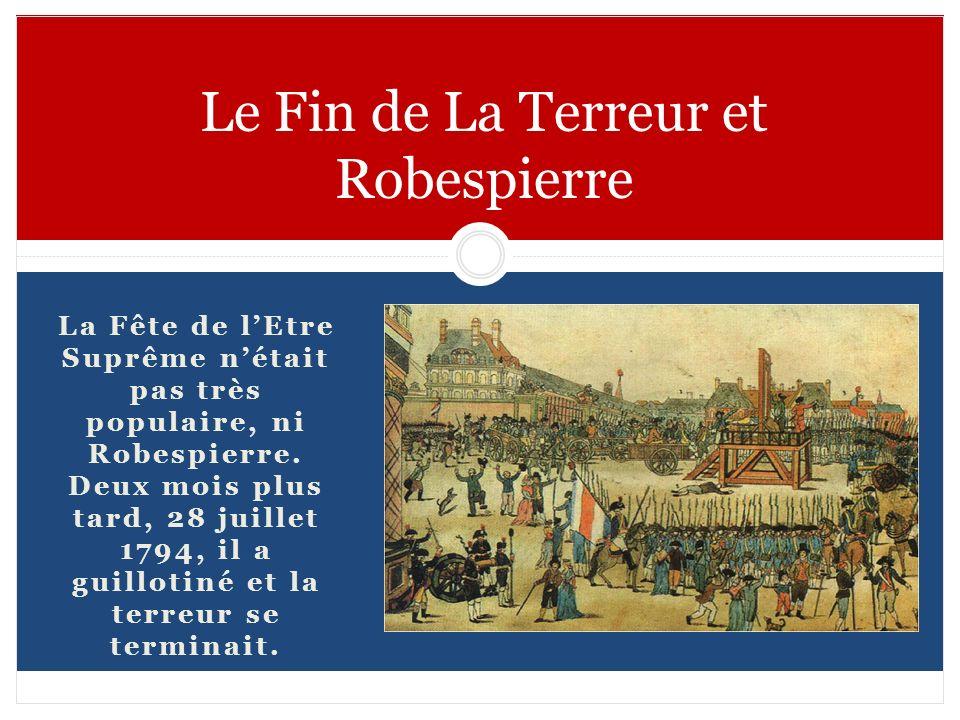 Le Fin de La Terreur et Robespierre
